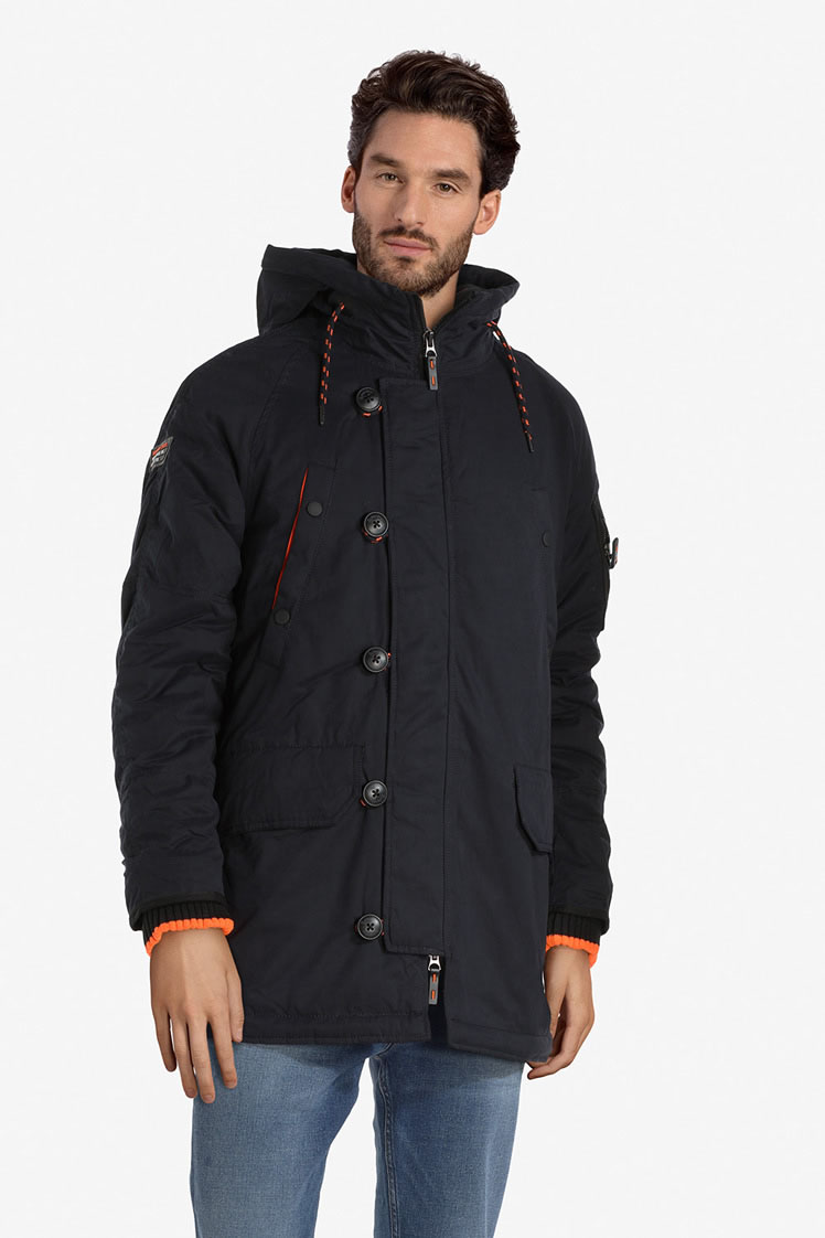 superdry parka m50008lr bleu marine homme des marques et vous. Black Bedroom Furniture Sets. Home Design Ideas