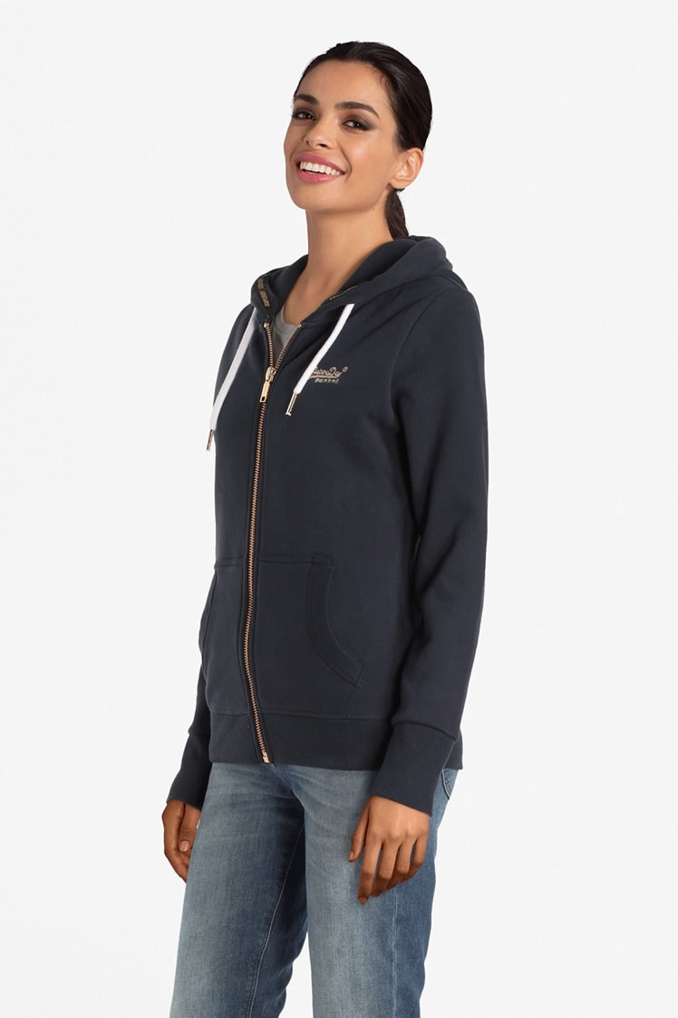 superdry sweat shirt g20303at bleu marine femme des marques et vous. Black Bedroom Furniture Sets. Home Design Ideas