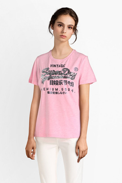 Tee-shirt SUPERDRY G10108MT Rose