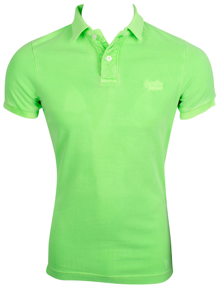 Polos Superdry verts homme SGMHHIf6C
