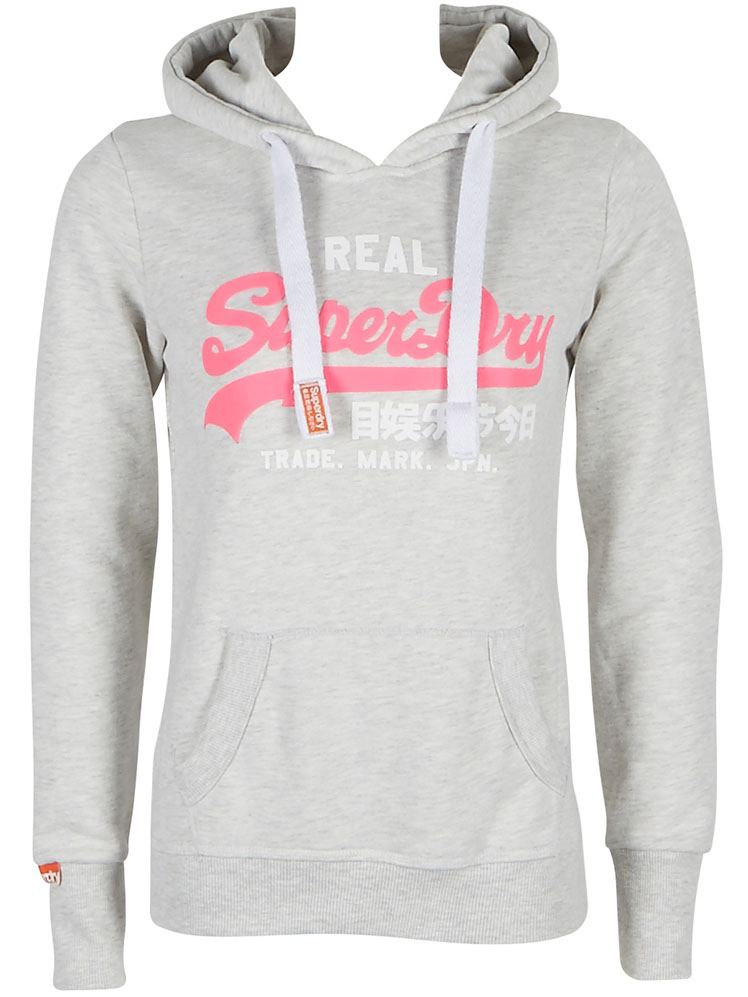 superdry sweat shirt gs2ix067 gris bleu femme des marques et vous. Black Bedroom Furniture Sets. Home Design Ideas