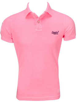 SUPERDRY Polo rose fluo M11KT002