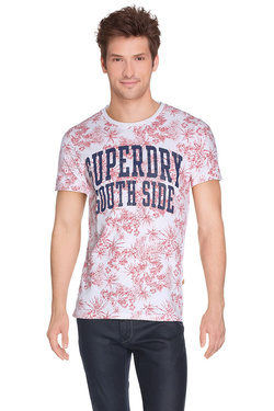 SUPERDRY - Tee-shirtM10MF014Rouge