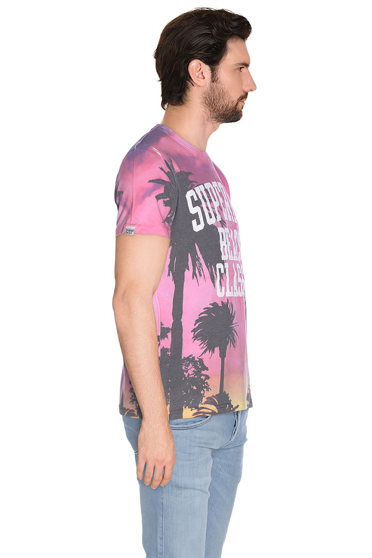 superdry tee shirt m10mx022 rose homme des marques et vous. Black Bedroom Furniture Sets. Home Design Ideas