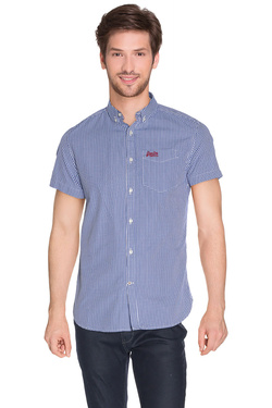 Chemise manches courtes SUPERDRY M40MO013F1 Bleu