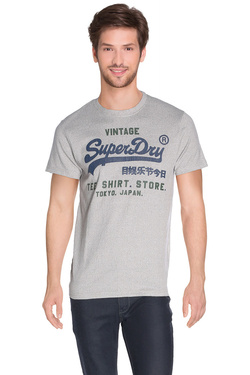 Tee-shirt SUPERDRY M10016XNF1 Gris clair