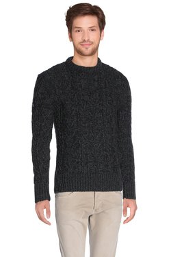 Pull SUPERDRY M61283KNF3 Noir