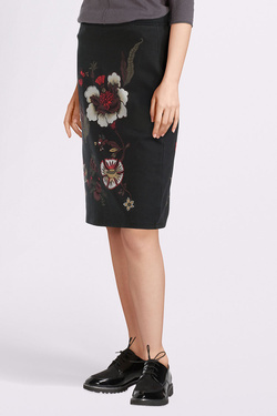 Jupe THOUGHT WWB3816 PAVANNE SKIRT Noir