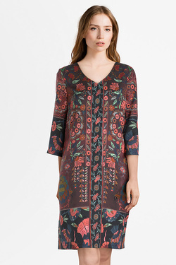 Robe THOUGHT WWD3765 TAPESTRY DRESS Rouge