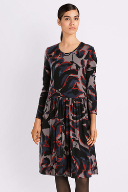 Robe THOUGHT WWD3884 SHADOW LEAF DRESS Gris