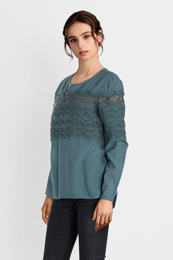 Blouse THOUGHT WWT3906 AUBRIANA TOP Bleu turquoise