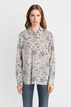 Chemise manches longues THOUGHT WST4023  FRANCOISE SHIRT Blanc