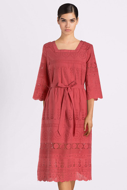 Robe THOUGHT WSD4169 BRIONY DRESS Rouge