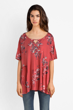 Tee-shirt THOUGHT WST4153  CASSIA TOP Rose