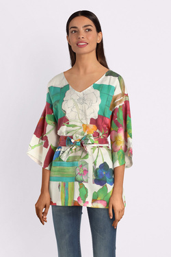 Blouse THOUGHT WST4146 DOMONIKA TOP Blanc