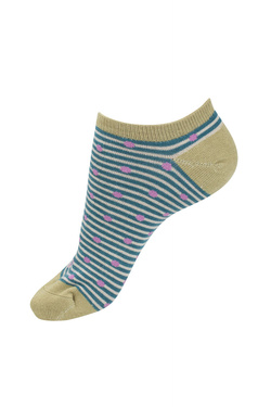 Chaussettes THOUGHT SPOT AND STRIPE TRAINER SOCKS Bleu