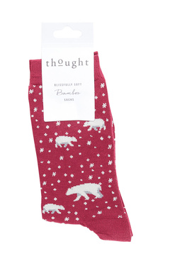 Chaussettes THOUGHT ARTIC POLAR BEAR Rouge