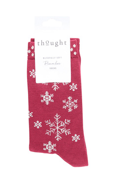 Chaussettes THOUGHT SNOWFLAKE Rouge
