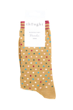 Chaussettes THOUGHT DOTTY SOCKS Or