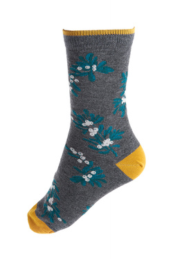 Chaussettes THOUGHT CHRISTMAS FOLIAGE Gris
