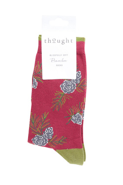 Chaussettes THOUGHT CHRISTMAS FOLIAGE Rouge