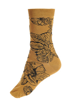 Chaussettes THOUGHT SKETCHY FLORAL Or