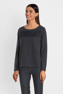 Tee-shirt manches longues THOUGHT WWT4326 MARGIT TOP Gris