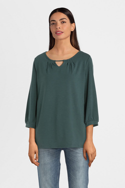 Tee-shirt manches longues THOUGHT WWT4385 SIGRUN BLOUSE Gris vert