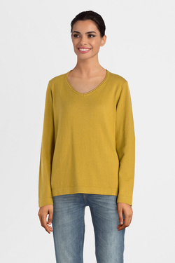 Pull THOUGHT WWT4370 HILDUR JUMPER Jaune