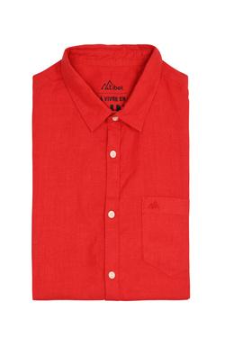 Chemise manches courtes TIBET 53TI1CS713 Rouge