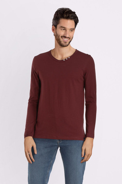 Tee-shirt manches longues TIBET 54TI1TS401 Rouge bordeaux