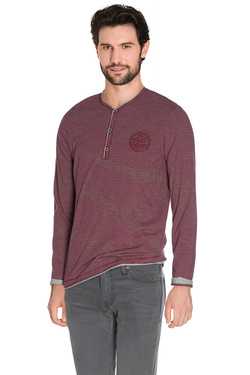 Tee-shirt manches longues TIBET 48TI1TS009 Rouge bordeaux