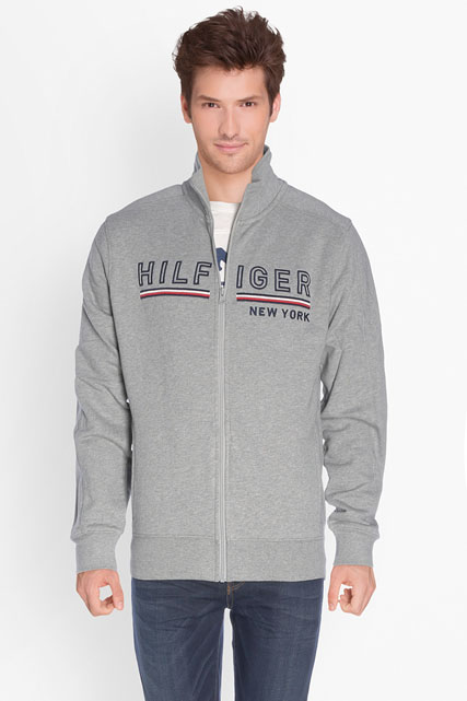 tommy hilfiger sweat shirt mw0mw00402 gris clair homme des marques et vous. Black Bedroom Furniture Sets. Home Design Ideas