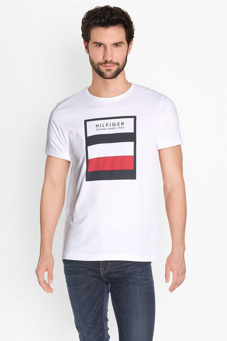 tommy hilfiger tee shirt mw0mw02983 blanc homme des marques et vous. Black Bedroom Furniture Sets. Home Design Ideas