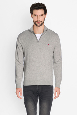 Pull TOMMY HILFIGER MW0MW03110 COMPACT Z-MK Gris clair