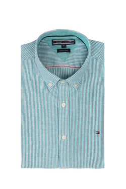 Chemise manches longues TOMMY HILFIGER MW0MW06069 Bleu turquoise