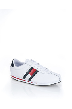 Chaussures TOMMY HILFIGER RETRO FLAG SNEAKER Blanc