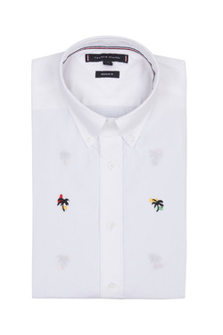 Chemise manches courtes TOMMY HILFIGER MW0MW09927 Blanc