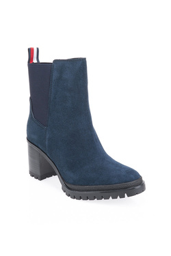 Chaussures TOMMY HILFIGER SPORTY MID HEEL CHELSEA Bleu marine