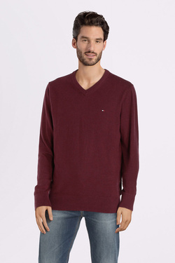 Pull TOMMY HILFIGER MW0MW11673 Rouge bordeaux