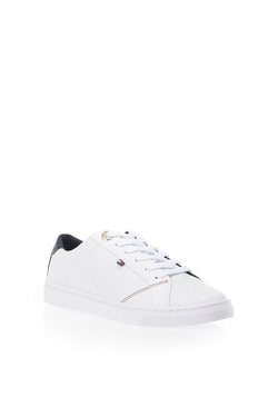 Chaussures TOMMY HILFIGER TOMMY JACQUARD LEATHER SNEAKER Blanc