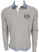 TOMMY HILFIGER Polo gris 61945 SEAN RUGBY