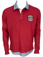 TOMMY HILFIGER Polo rouge bordeaux 61945 SEAN RUGBY