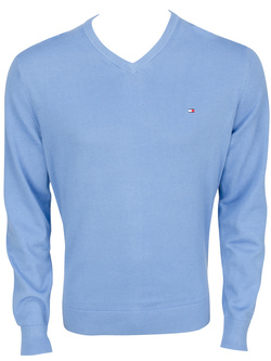 TOMMY HILFIGER Pull v bleu 69134 pacific