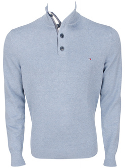 TOMMY HILFIGER Pull col montant bleu 73088 adrien