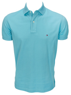 TOMMY HILFIGER Polo bleu turquoise 69135 tommy
