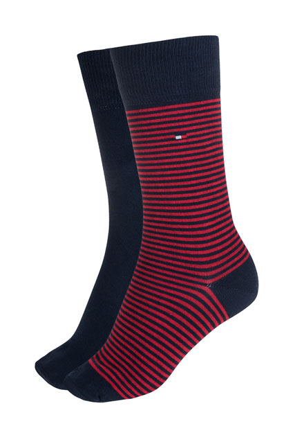 CHAUSSETTES ASSORTIES 75% COTON TOMMY HILFIGER