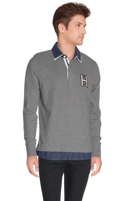 SWEAT-SHIRT COL CHEMISE TOMMY HILFIGER