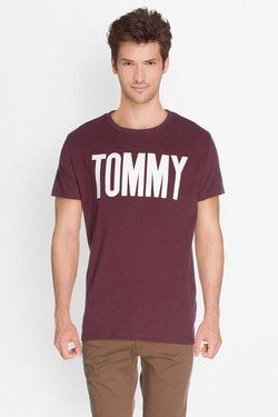 Tee-shirt TOMMY JEANS DM0DM02796 Rouge bordeaux
