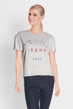 Tee-shirt TOMMY JEANS 04071 Gris clair